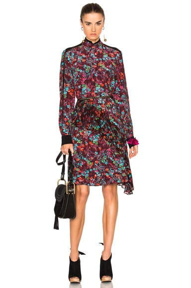 Preen Line Baily Dress in Plum Floral