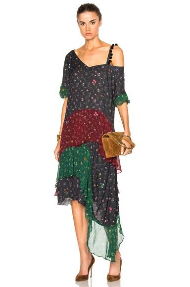 Preen Line Priya Pompoms Dress in Mini Flower