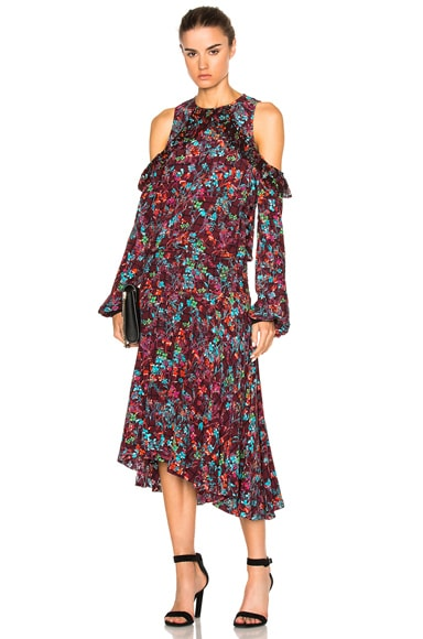 Preen Line Kim Dress in Plum Floral