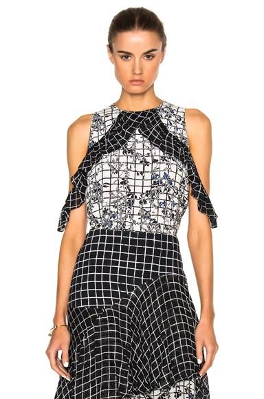 Preen Line Jenna Top in Black & White Grid