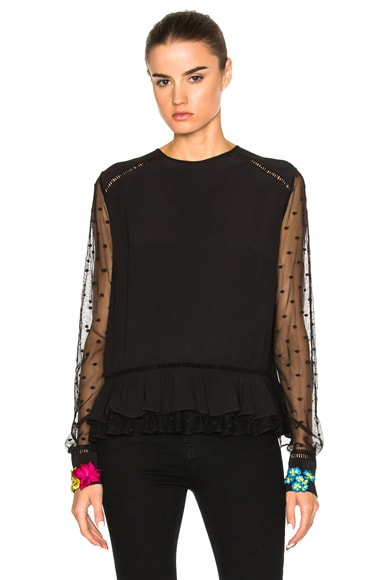 Preen Line Zelda Top in Black
