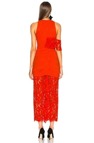 Corded Lace Ruffle Sleeveless Maxi Dress