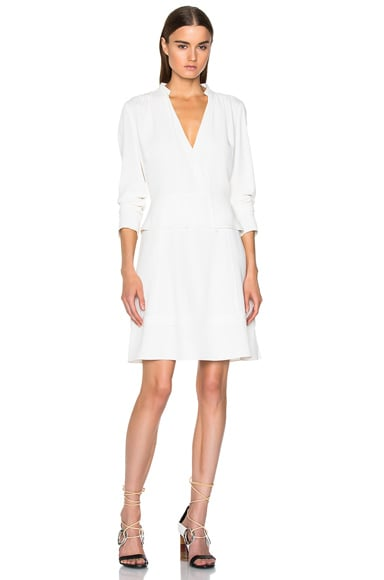 Proenza Schouler Satin Back Crepe A Line Dress in Off White