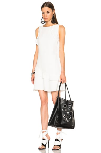 Proenza Schouler Asymmetrical Flare Dress in Off White