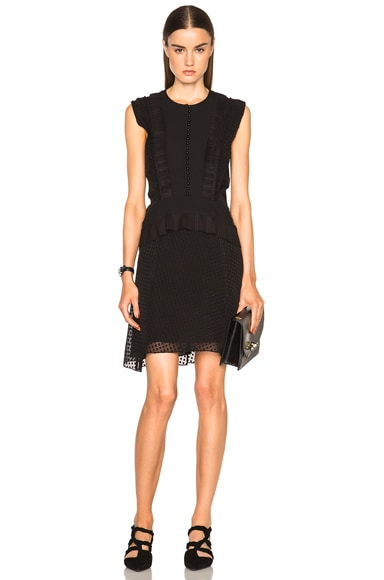 Fil Coupe Dot Jacquard A Line Dress