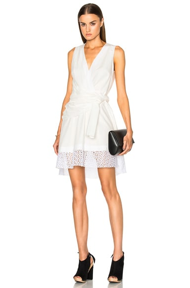 Proenza Schouler Cotton Poplin Dress in White