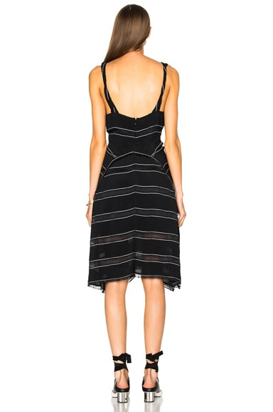 Pin Stripe Crepe Cami Dress