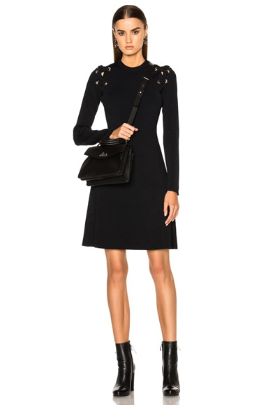 Proenza Schouler Lacing Viscose Dress in Black