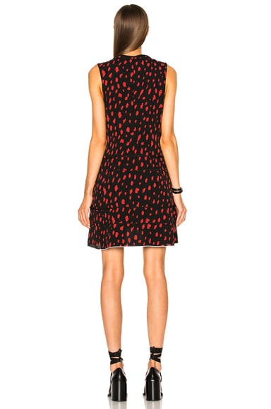 Printed Georgette V Neck Dress