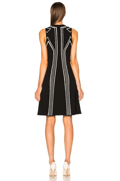 Intarsia Circle Cut Out Dress