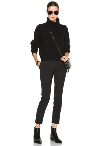 Wool Cashmere Rib Turtleneck