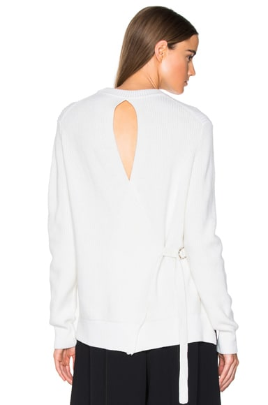 Proenza Schouler Cotton Cashmere Rib Sweater in Off White