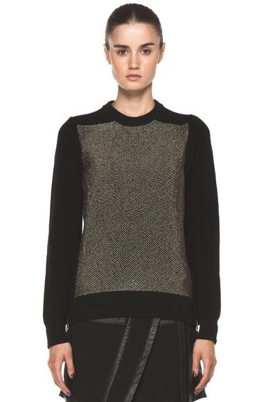 Crewneck Side Zip Sweater