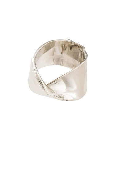 Proenza Schouler Cast Ribbon Cuff in Silver