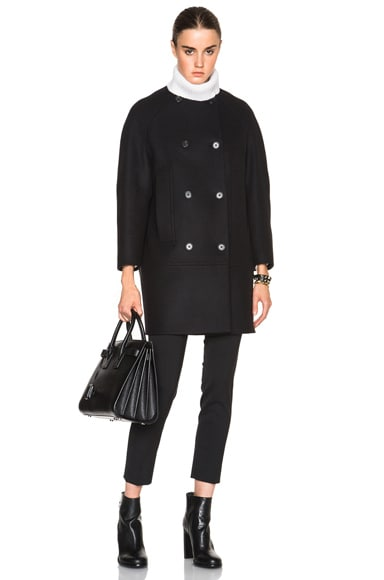 Proenza Schouler Long Bomber Coat in Black