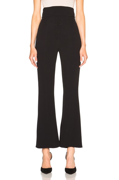 Proenza Schouler Flared Pant with Cummberbund in Black