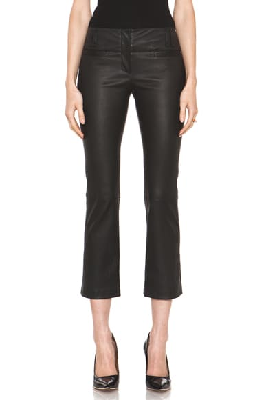 Leather Cropped Bootleg Pant