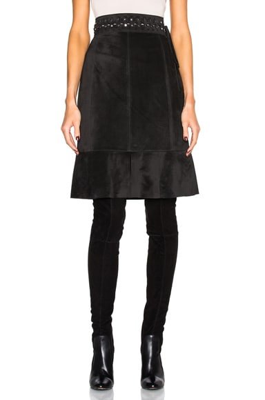 Proenza Schouler Suede Skirt in Black