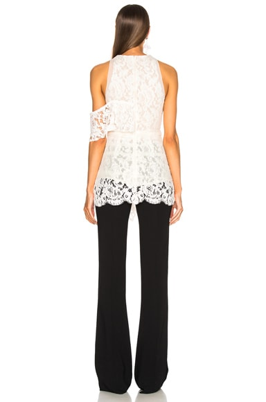 Corded Lace Ruffle Top
