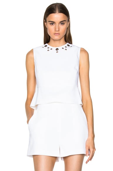 Proenza Schouler Peplum Top in White