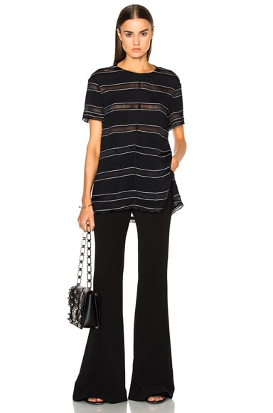 Pin Stripe Crepe Top