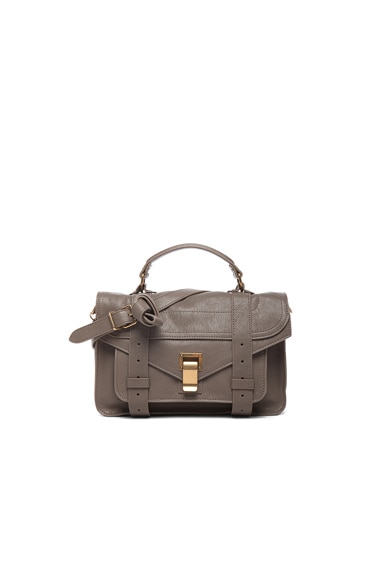 Proenza Schouler Tiny PS1 Leather in Smoke