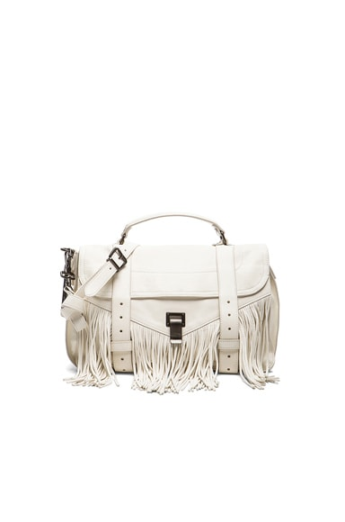 Proenza Schouler Medium Fringe PS1 Bag in White