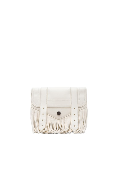 Proenza Schouler Large PS1 Fringe Chain Wallet in White