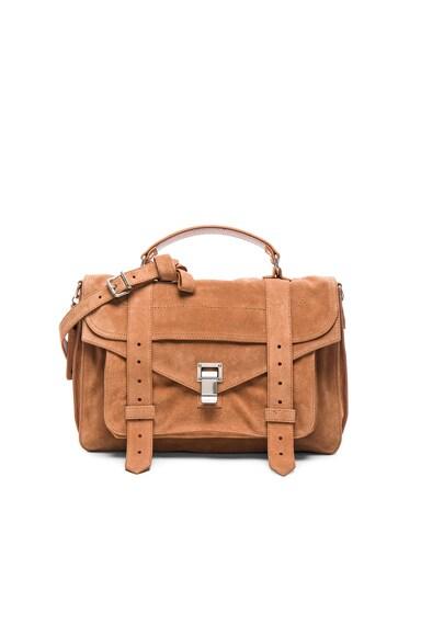 Proenza Schouler Medium PS1 Suede Bag in Dune