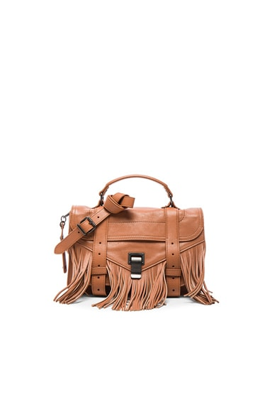 Proenza Schouler Tiny Fringe PS1 Bag in Dune