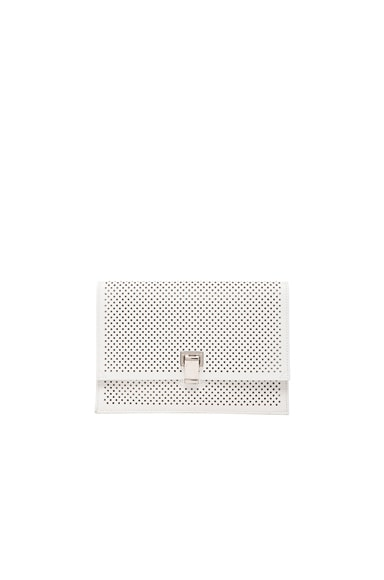 Proenza Schouler Small Perforated Leather Lunch Bag in Optic White