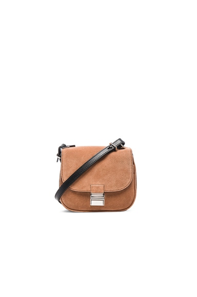 Proenza Schouler Tiny Suede Kent Bag in Dune