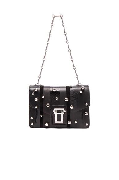 Proenza Schouler Hava Exotic Stripe Mix Chain Bag in Black