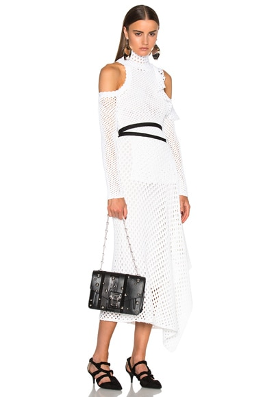 Hava Exotic Stripe Mix Chain Bag