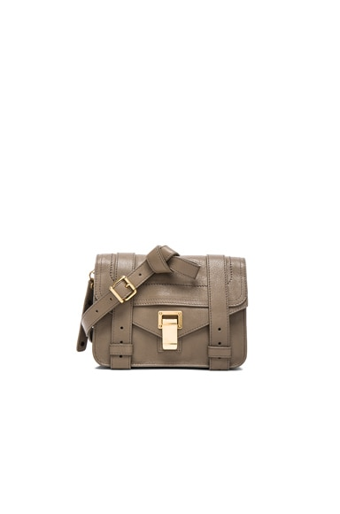 Proenza Schouler Mini PS1 Leather in Smoke