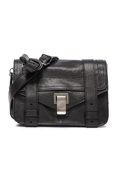 Proenza Schouler Mini PS1 Leather in Black