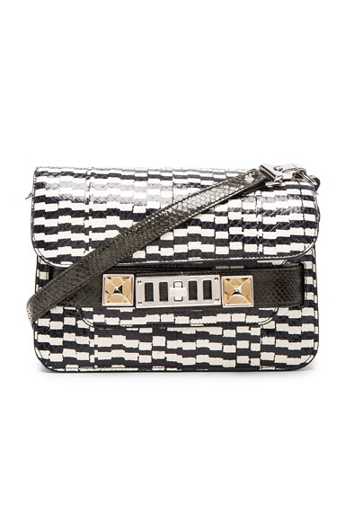 Proenza Schouler Mini PS11 Printed Ayers & Elaphe in Black & White