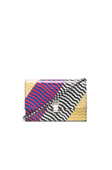 Proenza Schouler Small Lunch Bag Mixed Printed Ayers in Black, Yellow & Geranium
