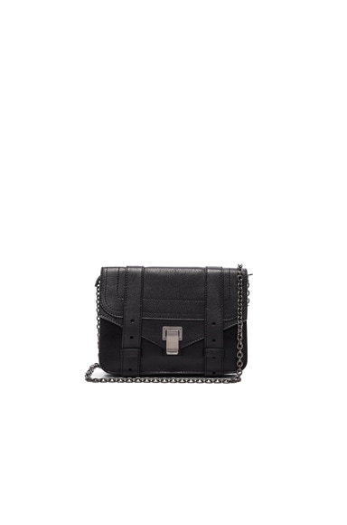Proenza Schouler PS1 New Chain Wallet Lux Leather in Black