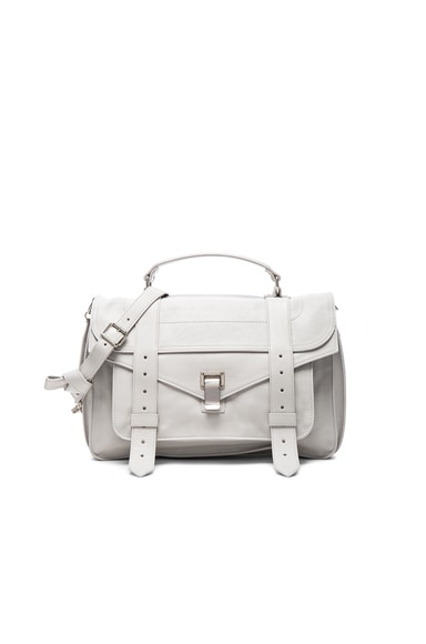 Proenza Schouler Medium PS1 Leather in Pale Steel