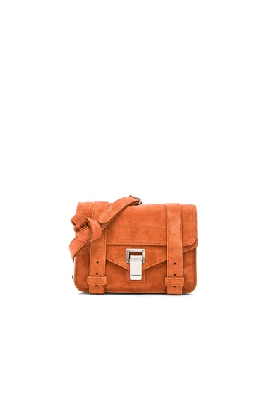 Proenza Schouler Mini PS1 Suede in Mahogany
