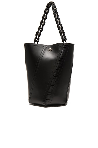 Proenza Schouler Medium Hex Whipstitch Leather in Black