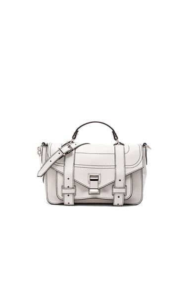 Proenza Schouler PS1 Leather Tiny in Optic White