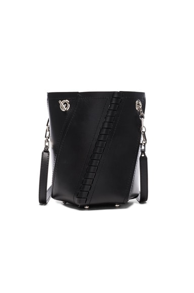 Proenza Schouler Crossbody Hex Bucket Whipstitch Leather in Black