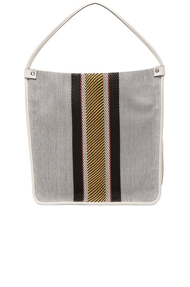 Medium Tote Woven Stripes