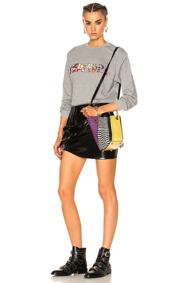 Crossbody Hex Bucket Bag Mixed Printed Ayers