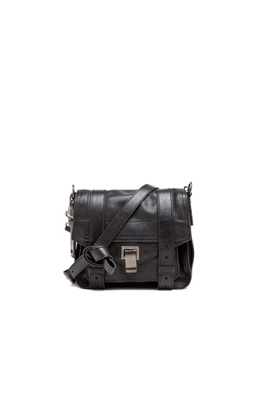 Proenza Schouler PS1 Leather Pouch in Black