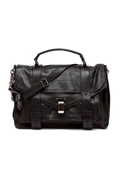 Proenza Schouler Medium PS1 Leather in Black
