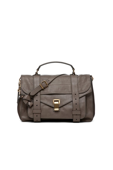 Proenza Schouler Medium PS1 Leather in Smoke
