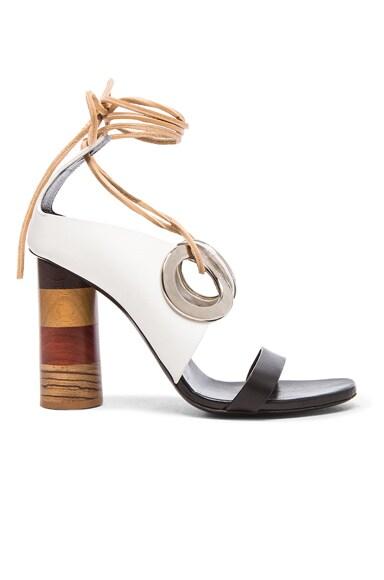 Proenza Schouler Macro Eyelet Heel in White